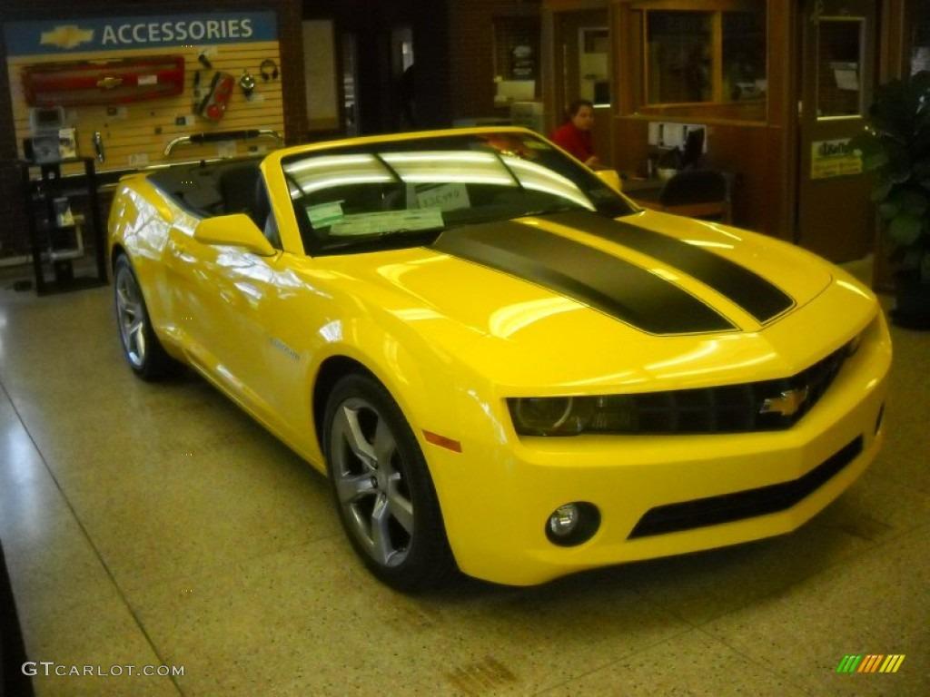 2011 Rally Yellow Chevrolet Camaro LT/RS Convertible ...