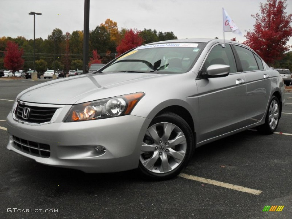 Alabaster Silver Metallic 2009 Honda Accord Ex V6 Sedan