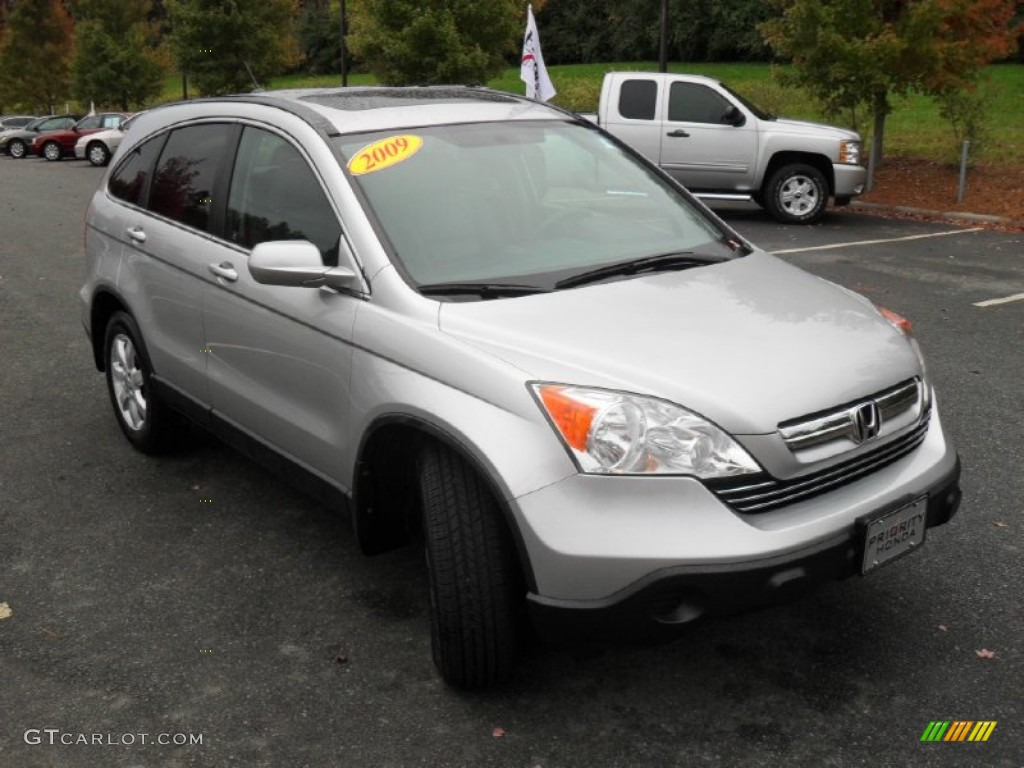 2009 CR-V EX-L - Alabaster Silver Metallic / Gray photo #5