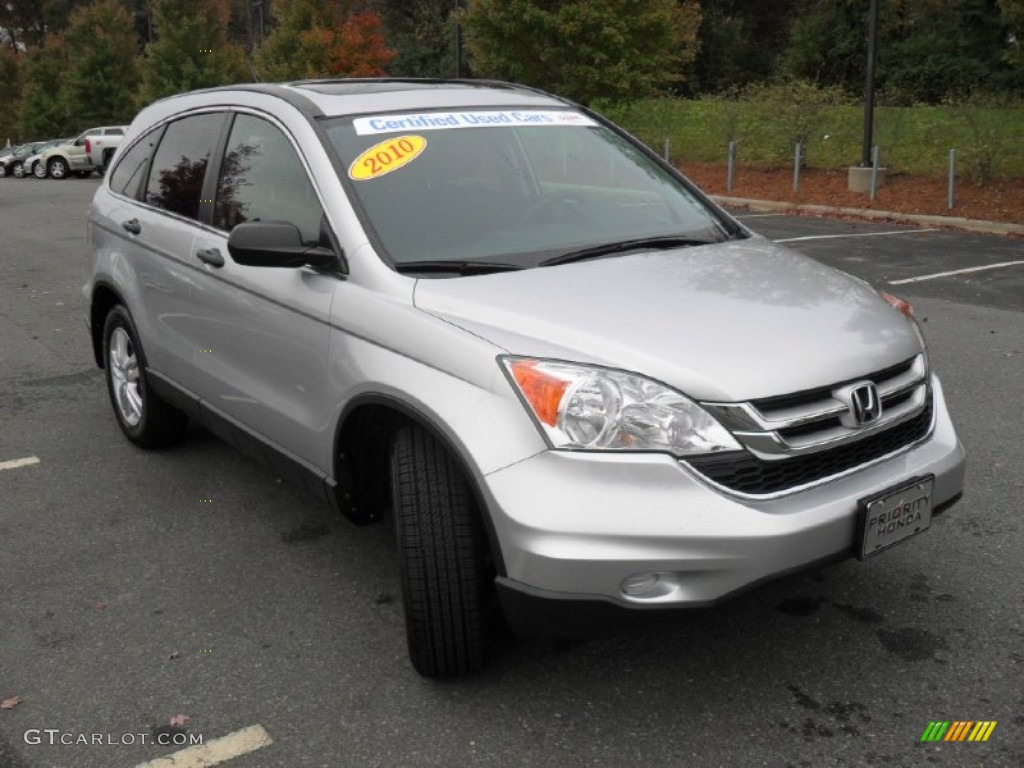 2010 CR-V EX - Alabaster Silver Metallic / Black photo #5
