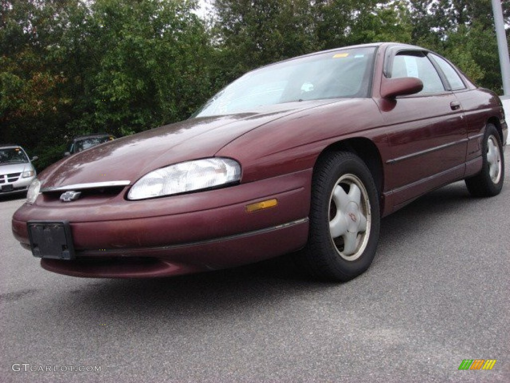 1996 dark carmine red metallic chevrolet monte carlo z34. Black Bedroom Furniture Sets. Home Design Ideas