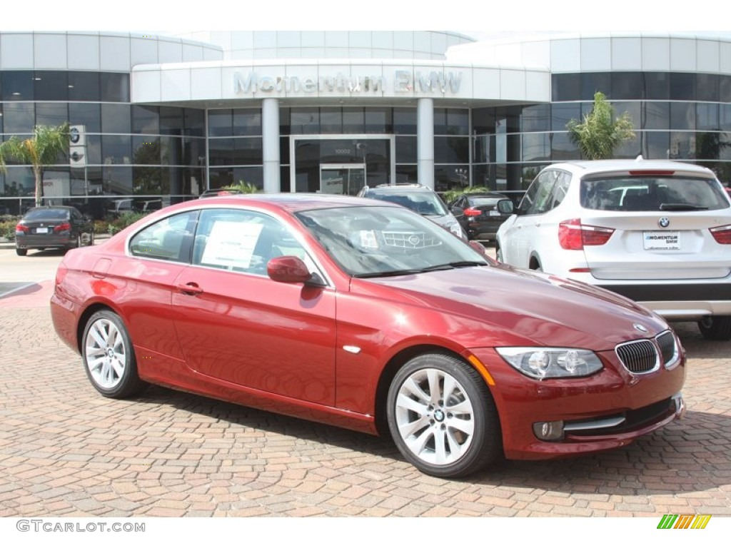 2012 vermilion red metallic bmw 3 series 328i coupe. Black Bedroom Furniture Sets. Home Design Ideas