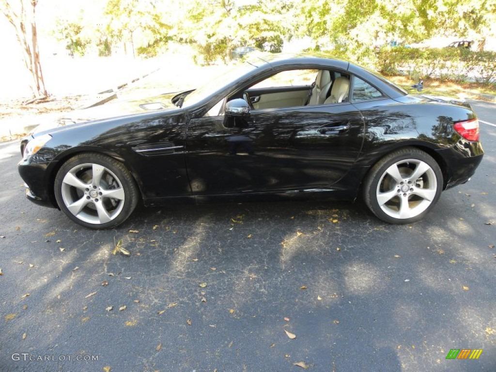 Black 2012 mercedes benz slk 350 roadster exterior photo for Mercedes benz 350 slk