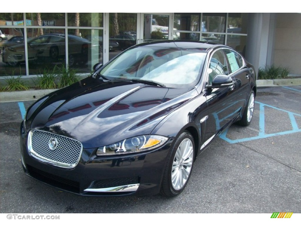 azurite blue metallic 2012 jaguar xf portfolio exterior photo 55844606. Black Bedroom Furniture Sets. Home Design Ideas