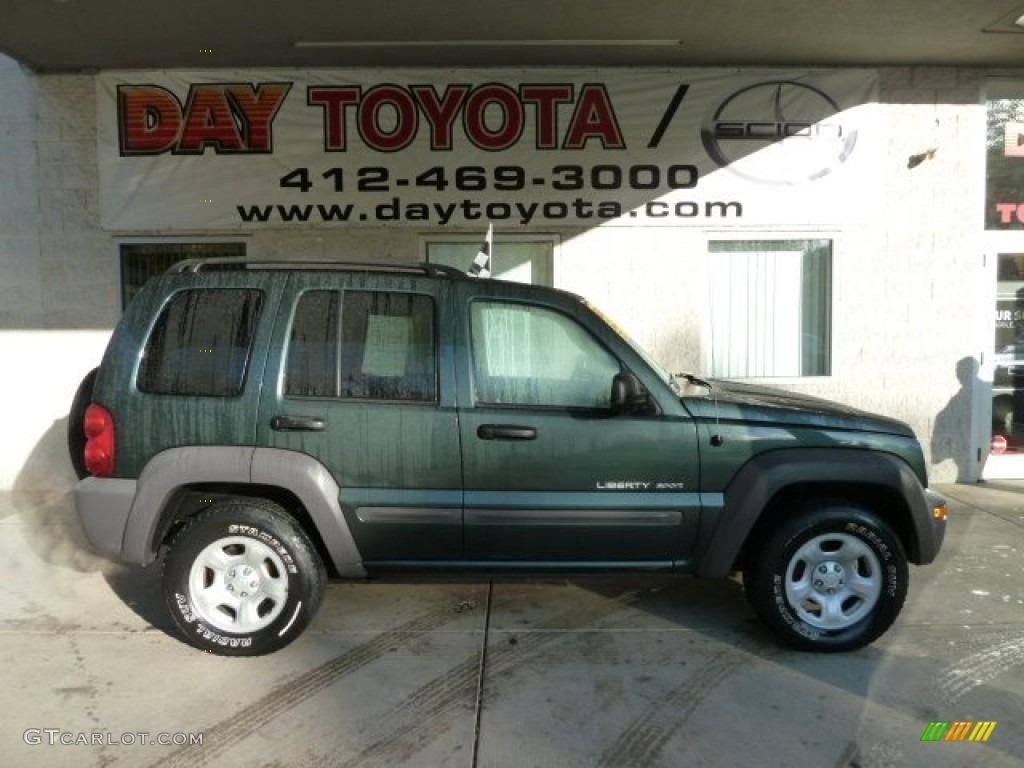 2003 timberline green metallic jeep liberty sport 4x4 #55846533