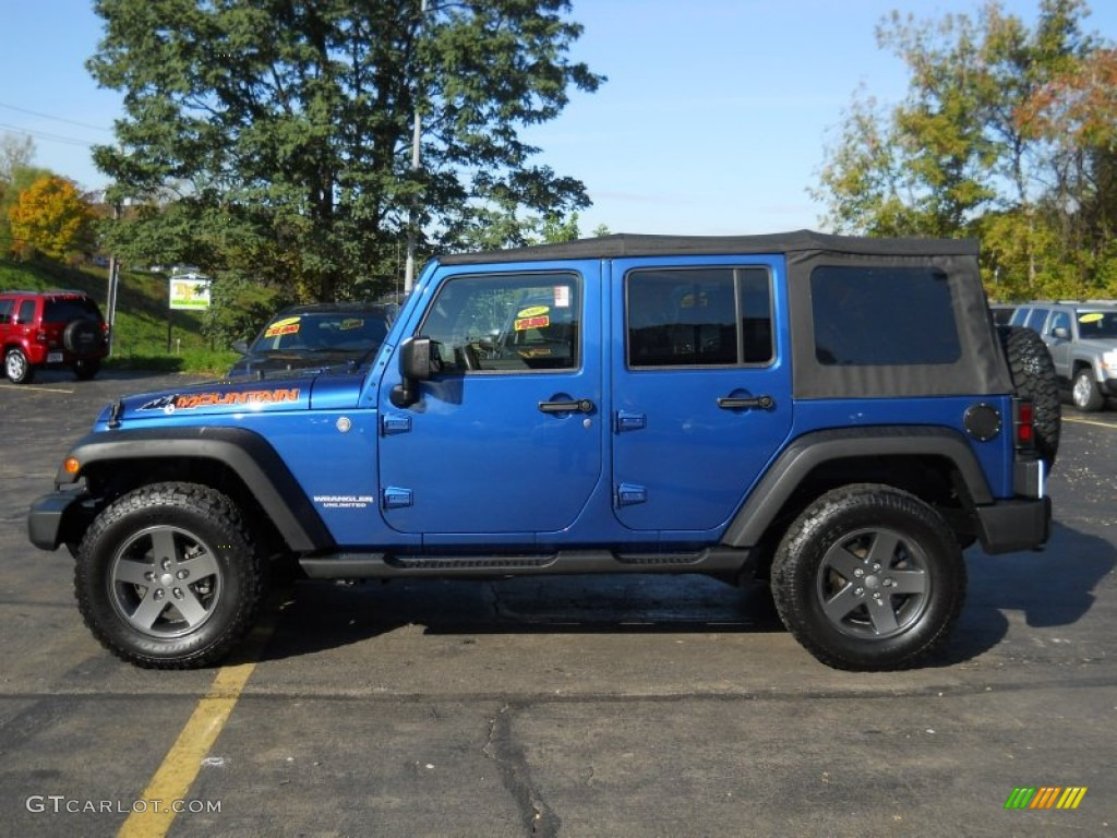 Deep Water Blue Pearl 2010 Jeep Wrangler Unlimited Mountain Edition 4x4 Exterior Photo 55850782