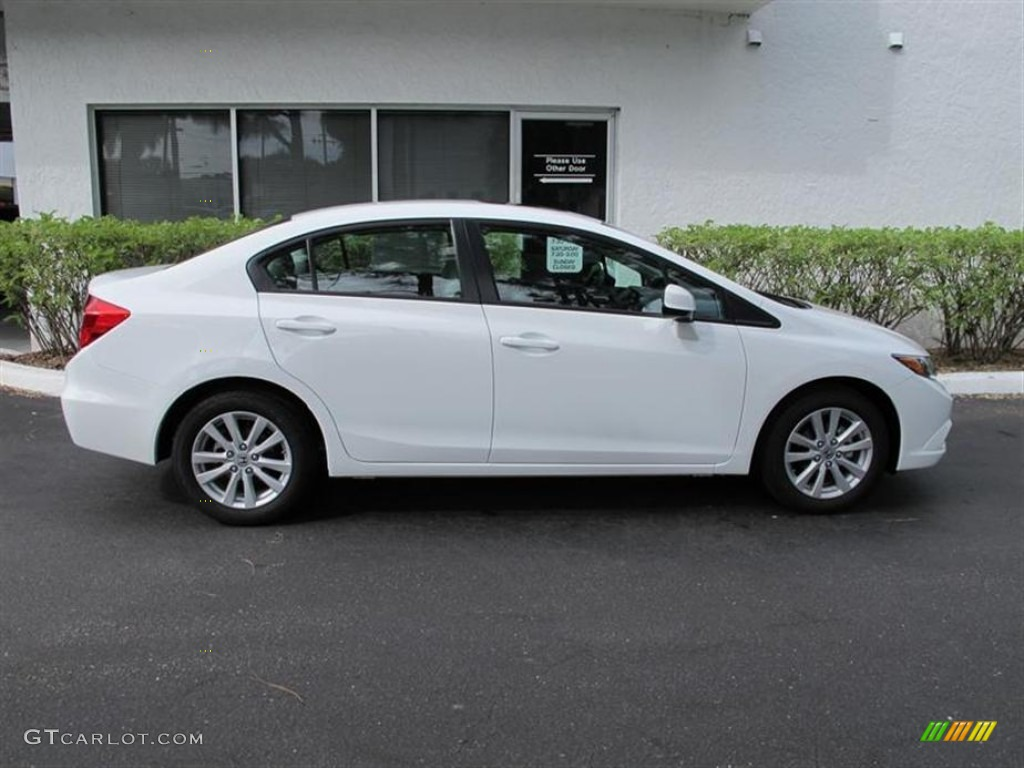 Taffeta White 2012 Honda Civic Ex Sedan Exterior Photo 55852660 Gtcarlot Com