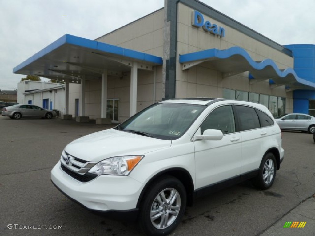 2011 CR-V EX-L 4WD - Taffeta White / Ivory photo #1