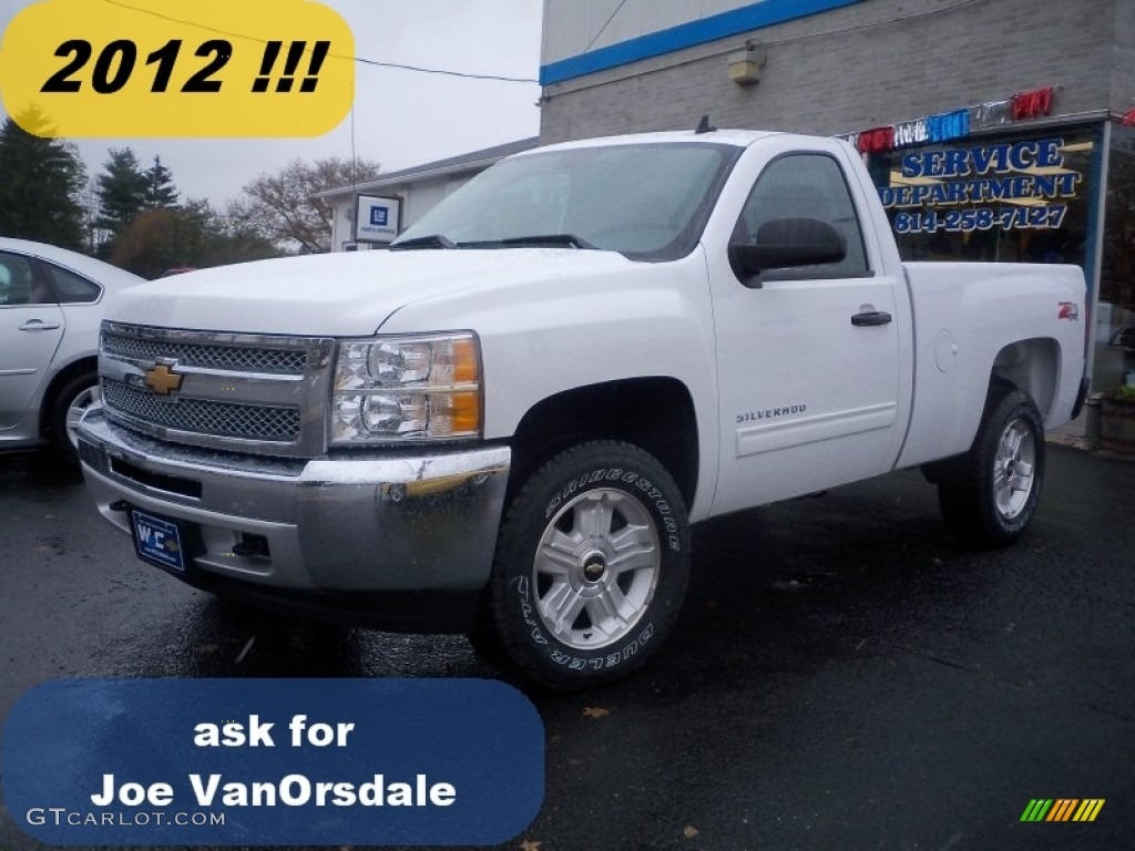2012 Silverado 1500 LT Regular Cab 4x4 - Summit White / Ebony photo #1
