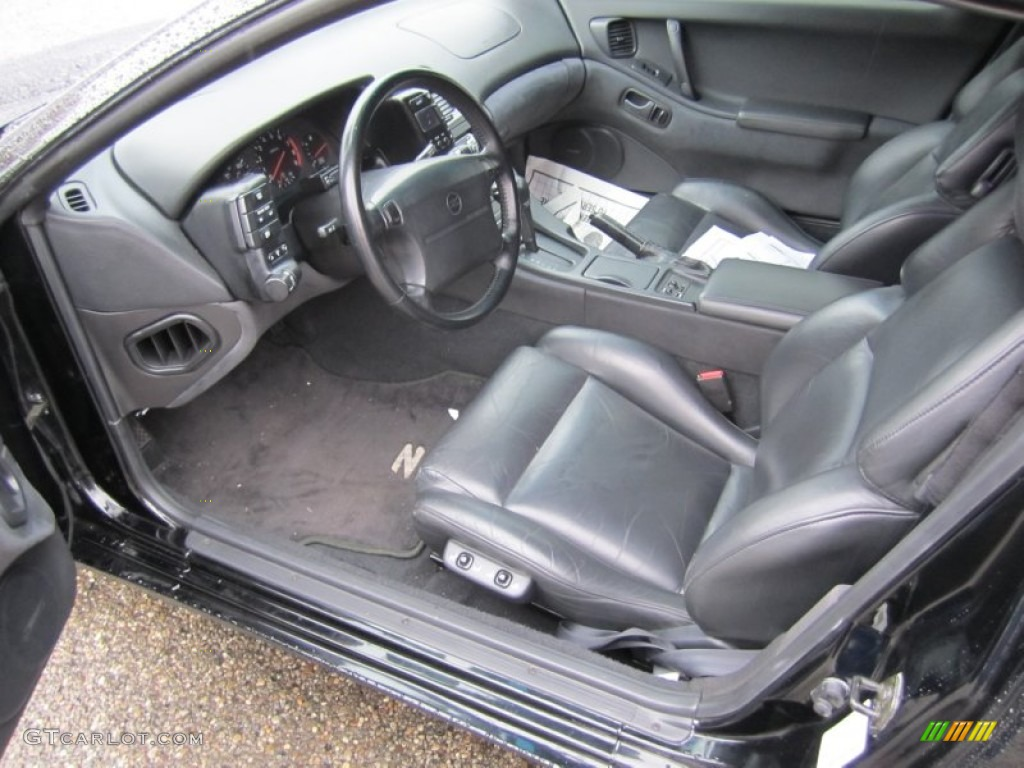 Black Interior 1996 Nissan 300ZX Turbo Coupe Photo #55872476