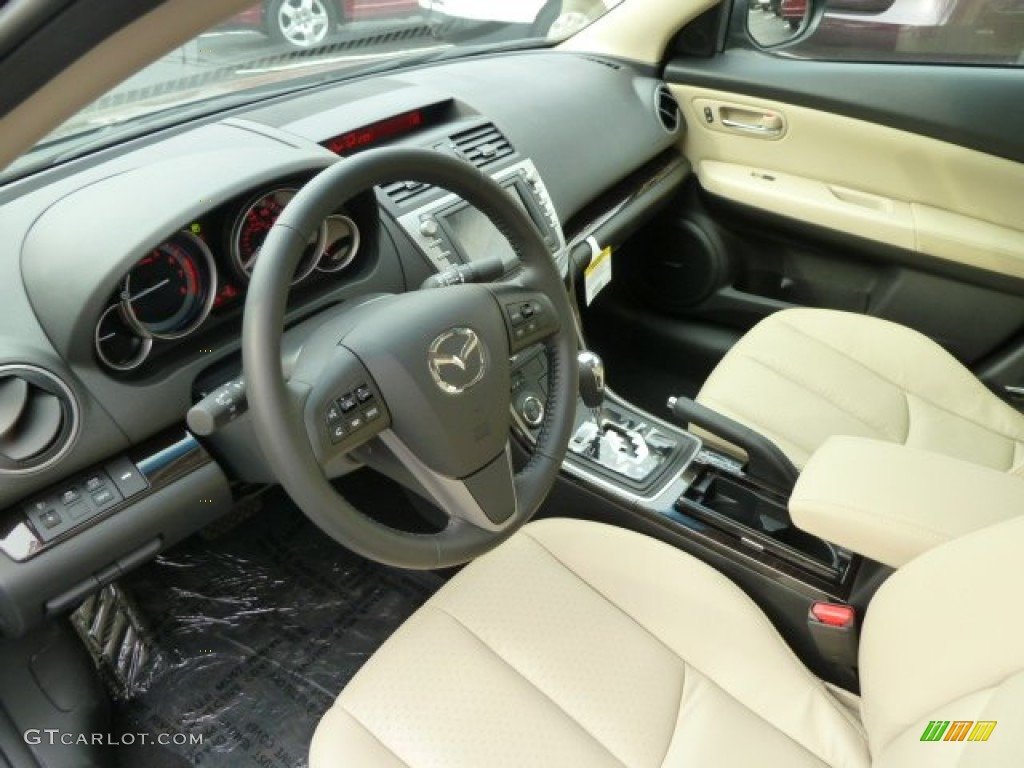 Beige Interior 2012 Mazda Mazda6 S Grand Touring Sedan