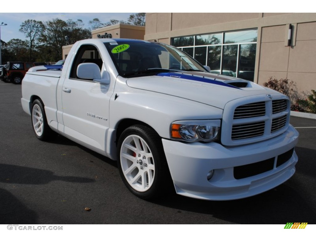 2005 Bright White Dodge Ram 1500 Srt 10 Regular Cab