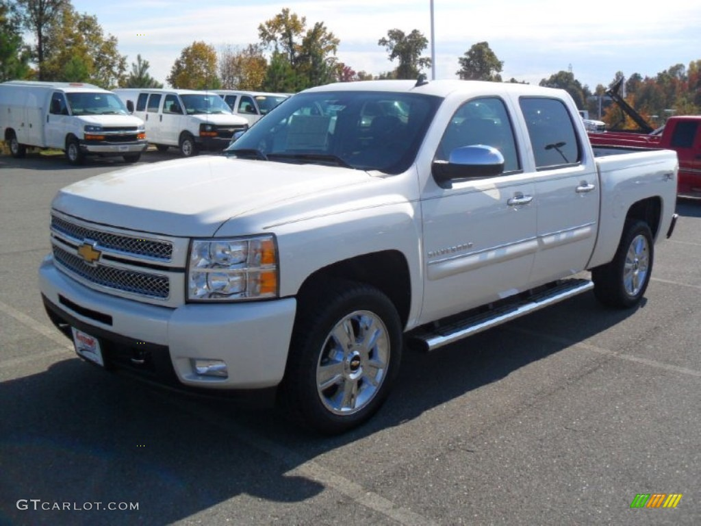 2012 Silverado 1500 LTZ Crew Cab 4x4 - White Diamond Tricoat / Ebony photo #1