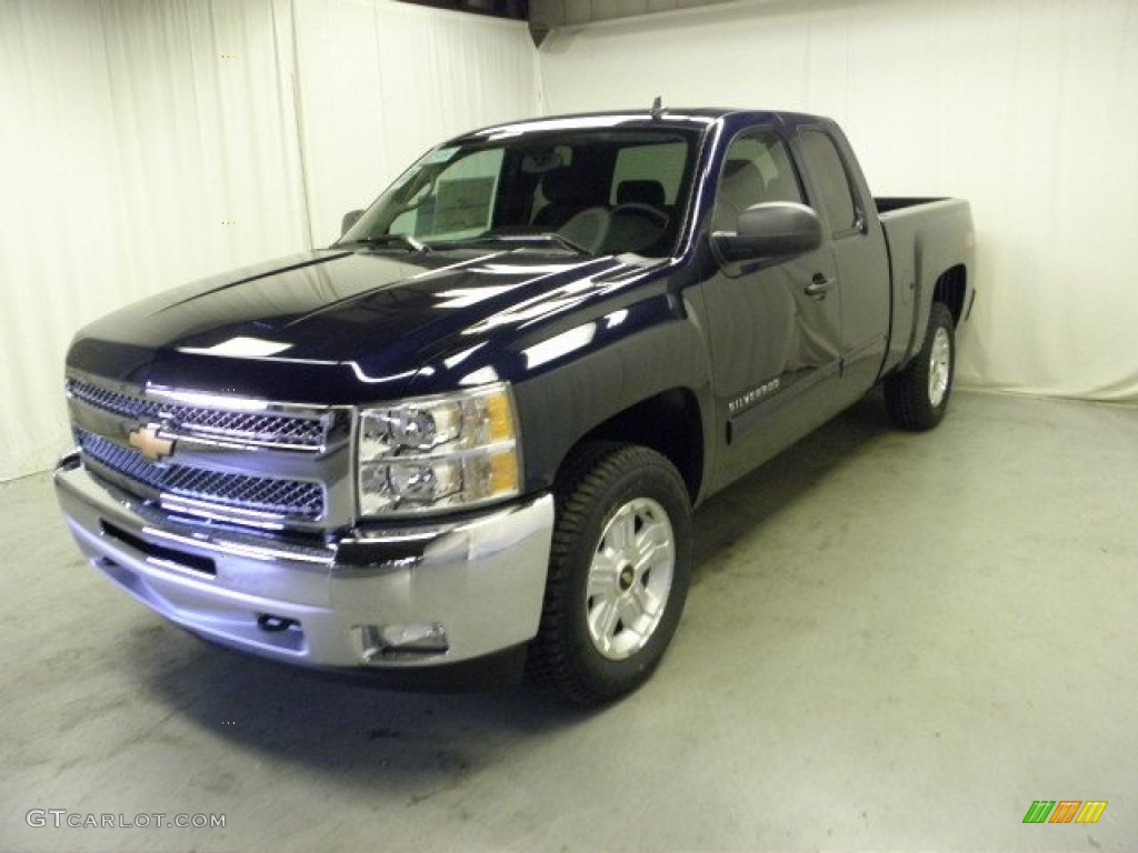2012 Silverado 1500 LT Extended Cab 4x4 - Imperial Blue Metallic / Ebony photo #3