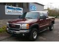 2003 Dark Toreador Red Metallic GMC Sierra 2500HD SLE Extended Cab 4x4 #55875046