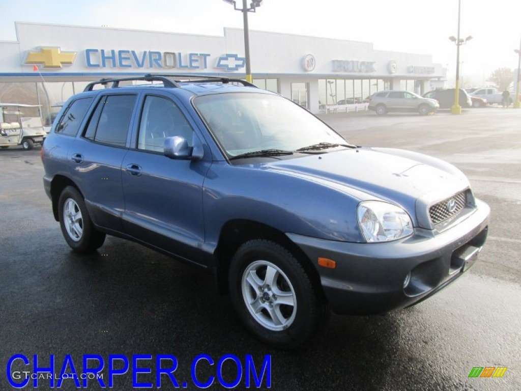 2003 crystal blue hyundai santa fe gls 4wd 55906435 car color galleries. Black Bedroom Furniture Sets. Home Design Ideas