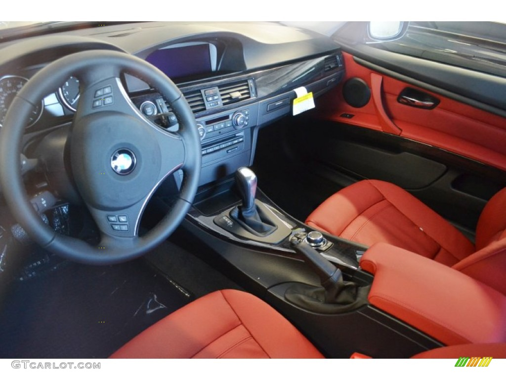 Coral Red Black Interior 2012 Bmw 3 Series 328i Coupe Photo 55946641