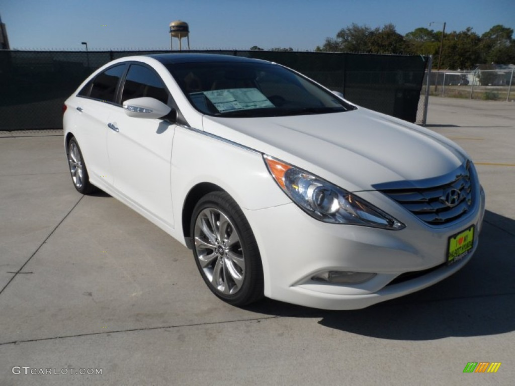 2012 shimmering white hyundai sonata limited 2 0t 55906036 car color galleries. Black Bedroom Furniture Sets. Home Design Ideas