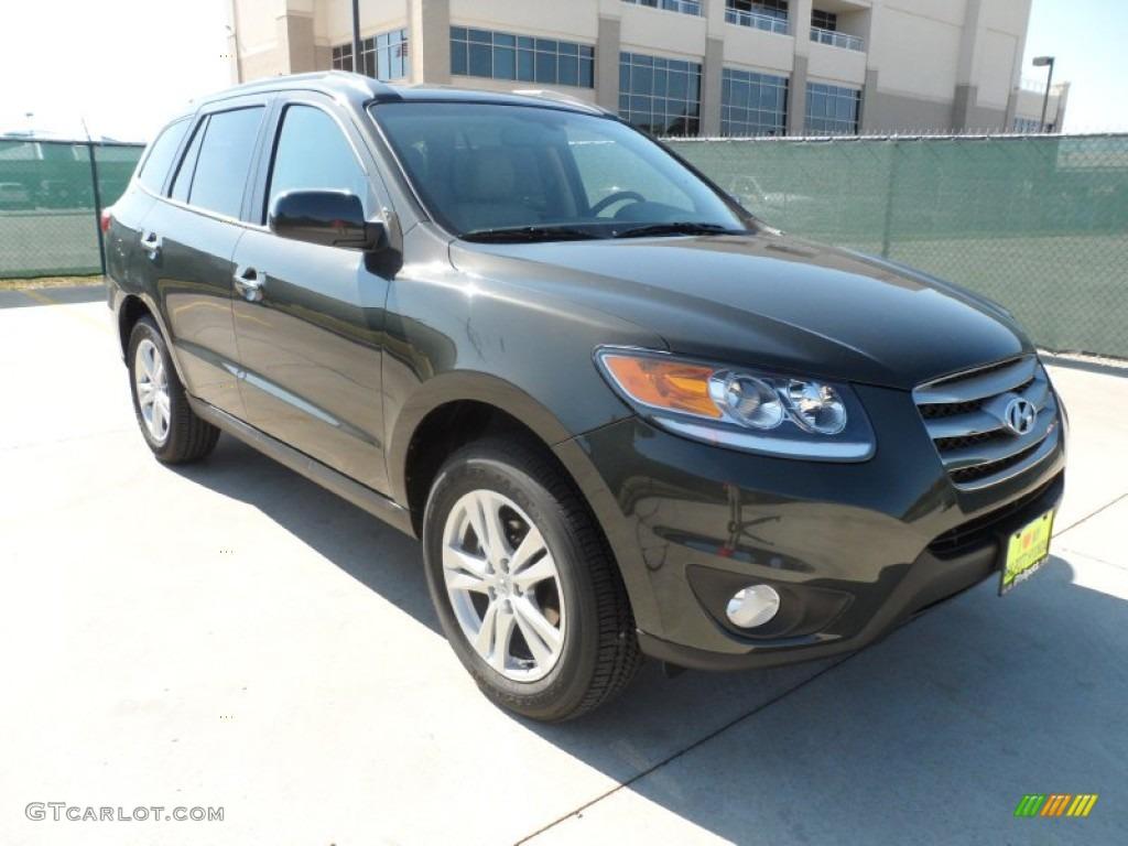 2012 Black Forest Green Hyundai Santa Fe Limited 55906033