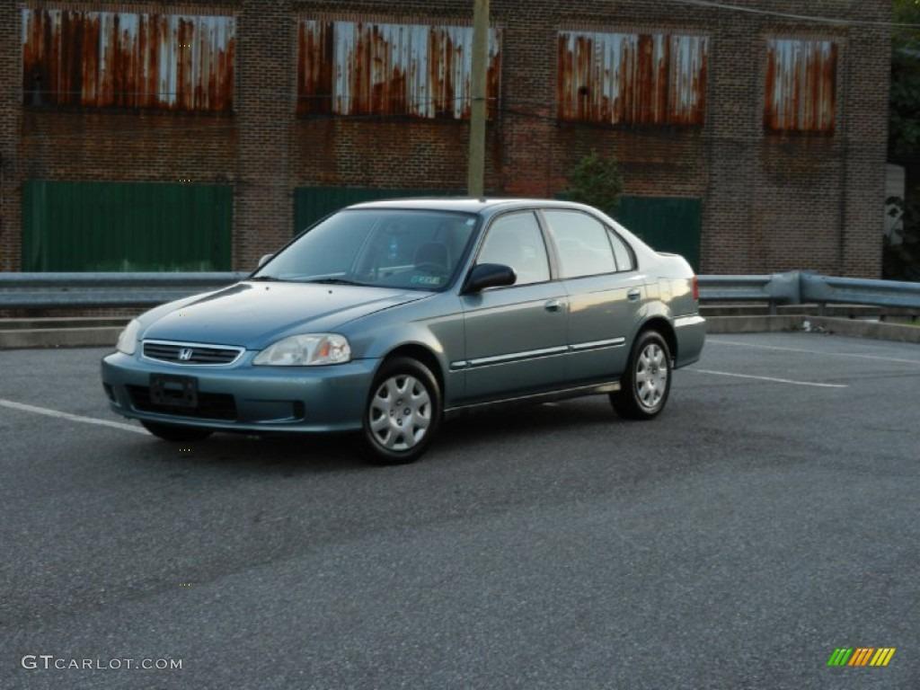 Iced teal pearl 2000 honda civic vp sedan exterior photo for Honda civic vp