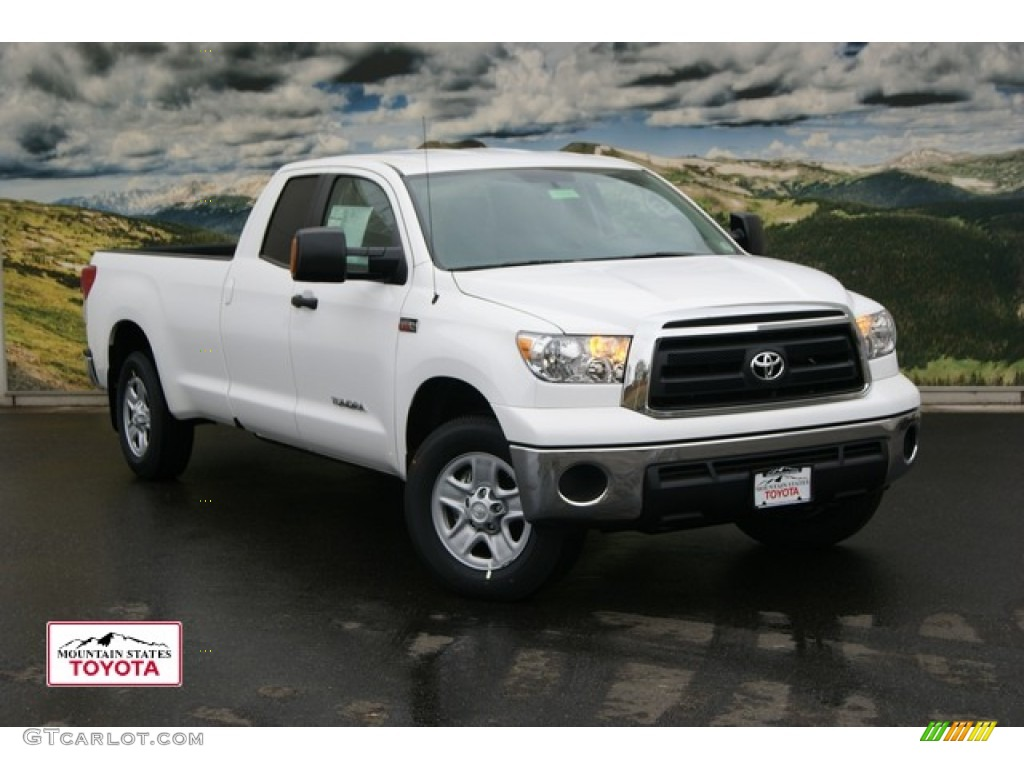 2012 super white toyota tundra double cab 4x4 55956289 car color galleries. Black Bedroom Furniture Sets. Home Design Ideas