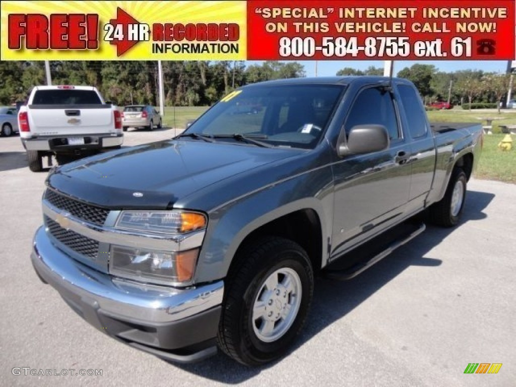 2007 blue granite metallic chevrolet colorado ls extended. Black Bedroom Furniture Sets. Home Design Ideas