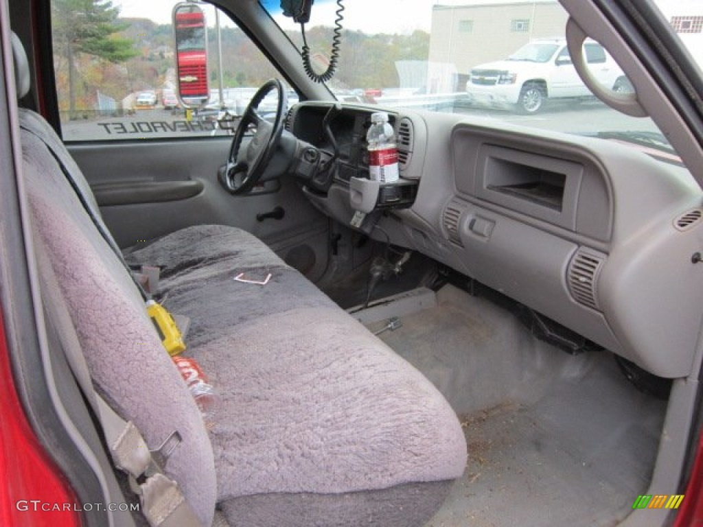 Gray Interior 1998 Chevrolet C/K 3500 K3500 Regular Cab 4x4 Dump Truck  Photo #