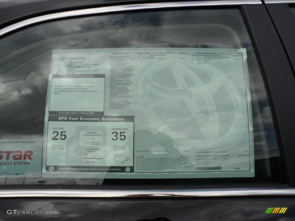 2012 toyota camry le window sticker photo 56004136 for 1995 toyota camry window regulator