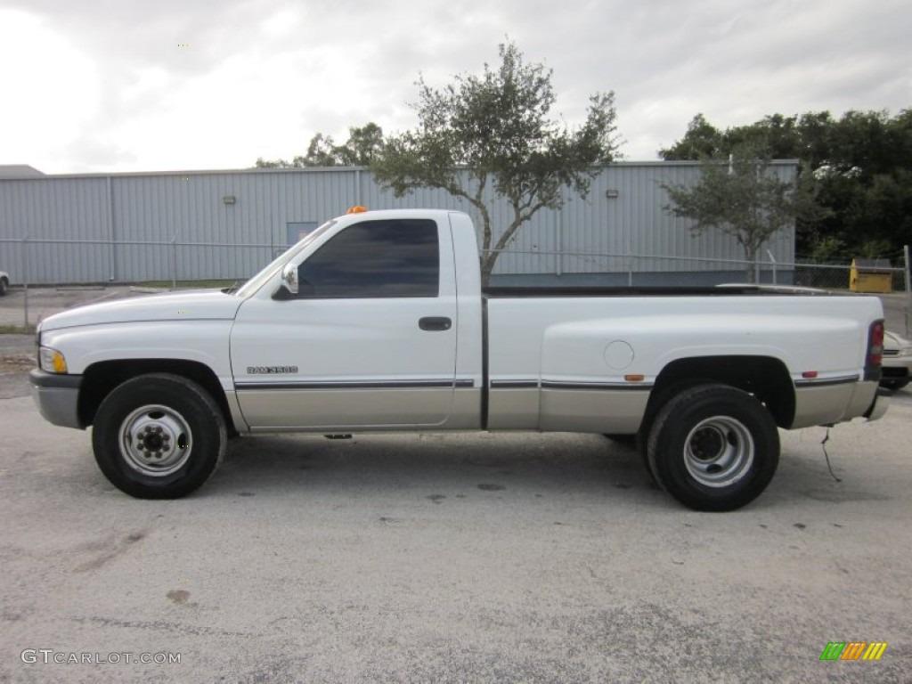 bright white 1997 dodge ram 3500 laramie regular cab 4x4 dually exterior photo 56011225 - Dodge Ram 3500 Dually Single Cab
