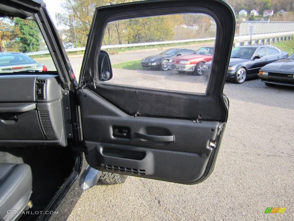 2006 Jeep Wrangler Se 4x4 Dark Slate Gray Door Panel Photo 56011984