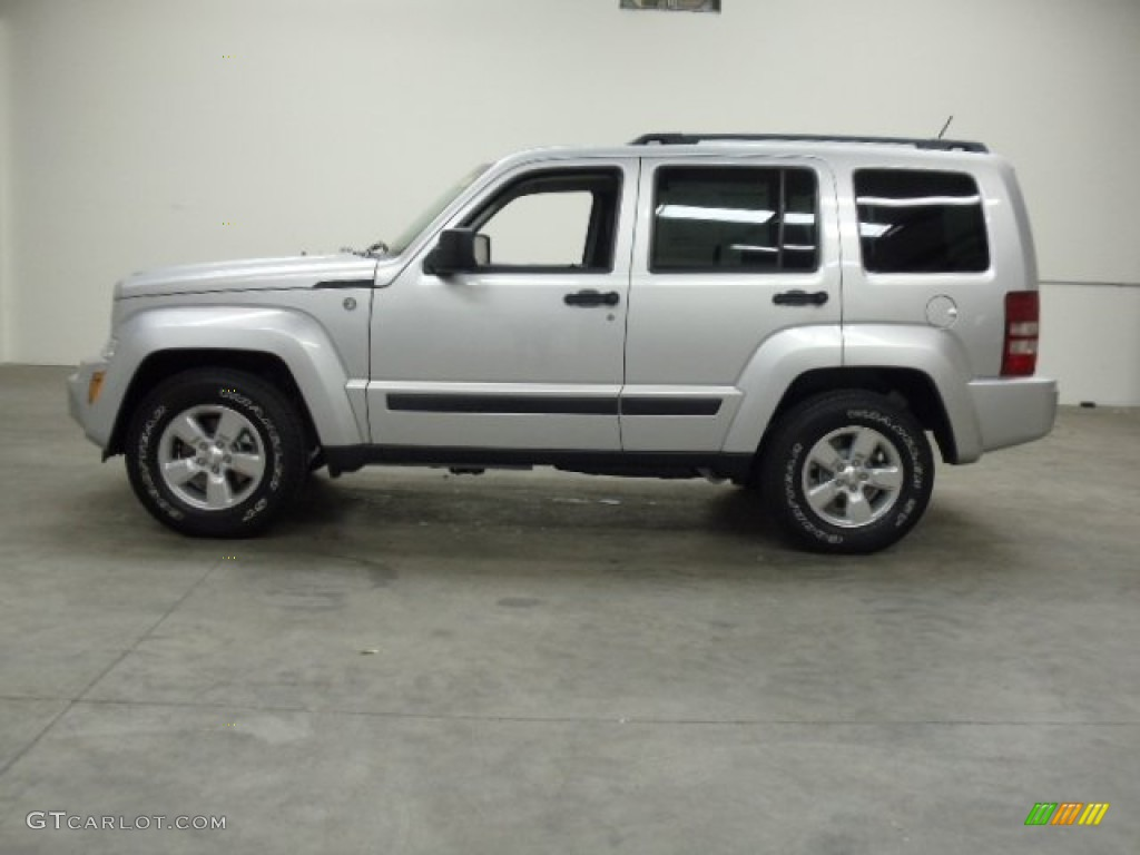 2012 bright silver metallic jeep liberty sport 4x4. Black Bedroom Furniture Sets. Home Design Ideas