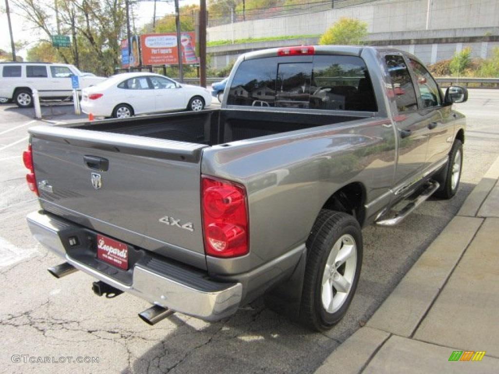 2008 Ram 1500 Big Horn Edition Quad Cab 4x4 - Mineral Gray Metallic / Medium Slate Gray photo #5