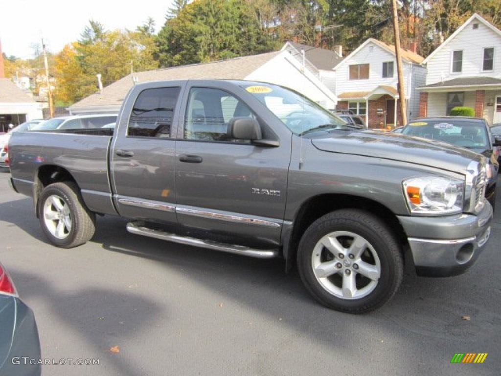 2008 Ram 1500 Big Horn Edition Quad Cab 4x4 - Mineral Gray Metallic / Medium Slate Gray photo #6