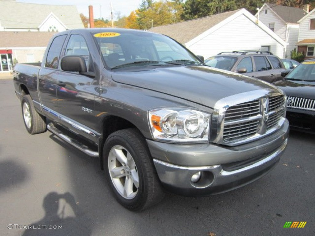 2008 Ram 1500 Big Horn Edition Quad Cab 4x4 - Mineral Gray Metallic / Medium Slate Gray photo #7