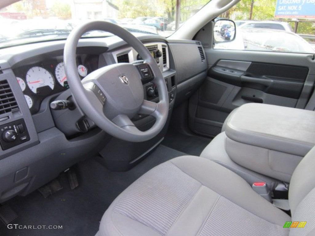 Medium Slate Gray Interior 2008 Dodge Ram 1500 Big Horn Edition Quad Cab 4x4 Photo 56028875
