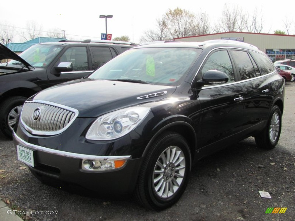 2008 Enclave CXL AWD - Carbon Black Metallic / Cashmere/Cocoa photo #1