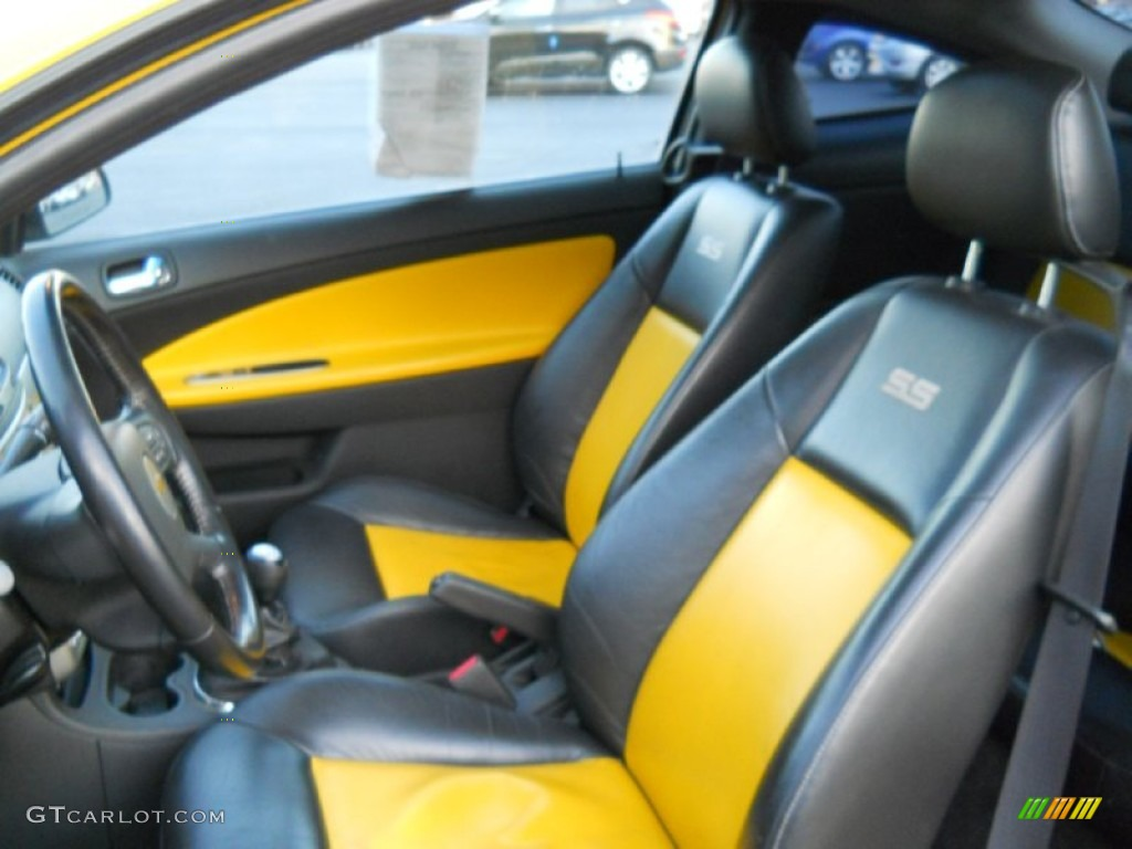 Ebony/Yellow Interior 2006 Chevrolet Cobalt SS Supercharged Coupe Photo  #56043782