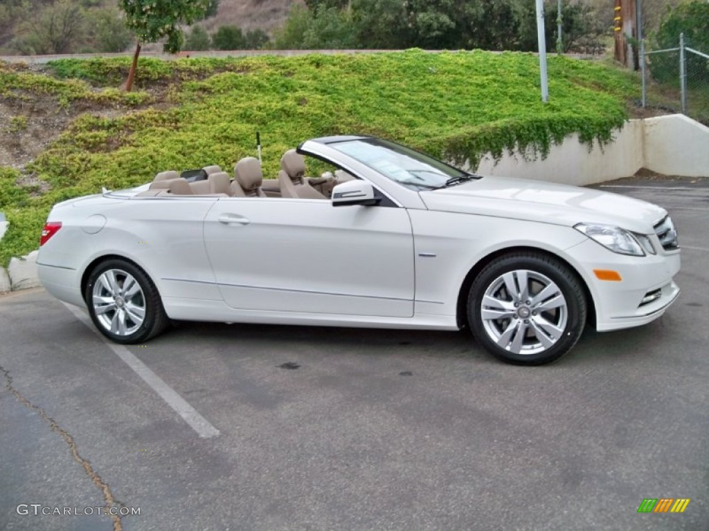 Arctic white 2012 mercedes benz e 350 cabriolet exterior for Mercedes benz 350 convertible