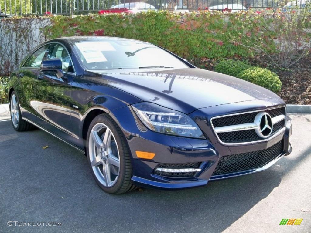 2012 lunar blue metallic mercedes benz cls 550 coupe for Mercedes benz lunar blue
