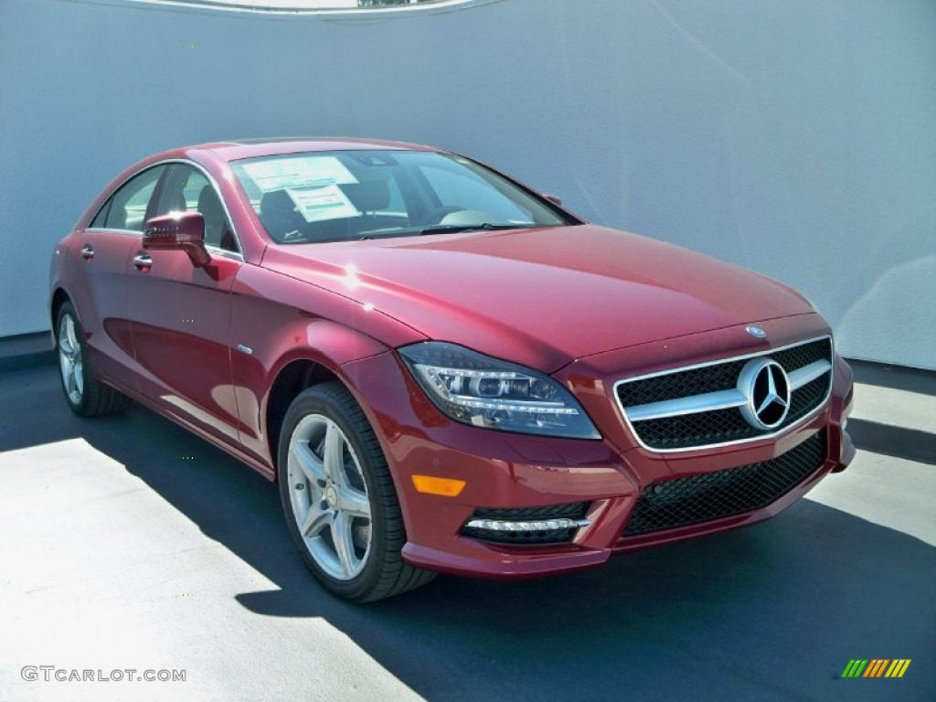 Storm red metallic 2012 mercedes benz cls 550 coupe for 2012 mercedes benz cls