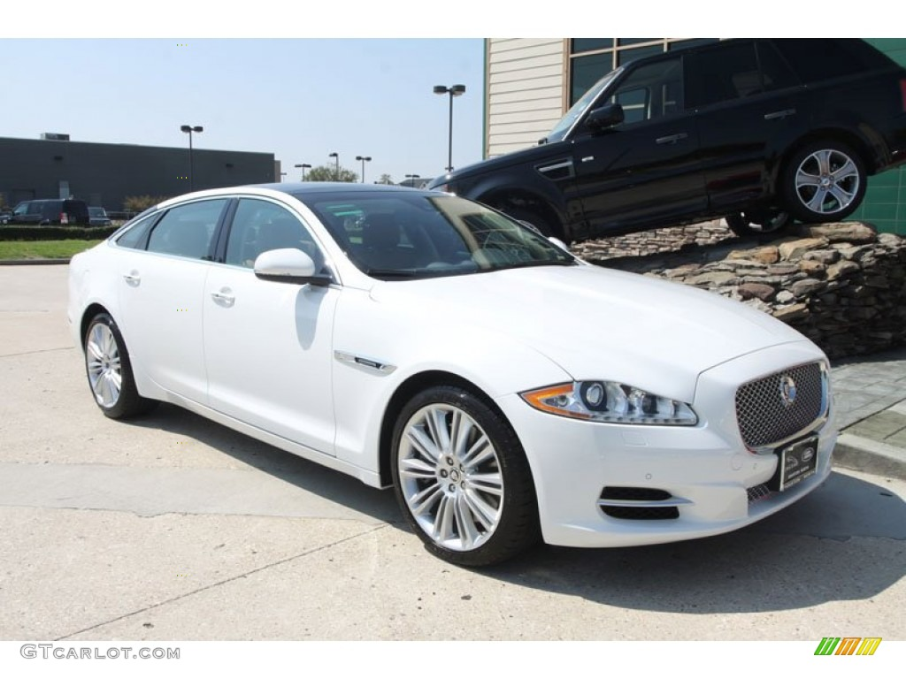Polaris white 2012 jaguar xj xjl supercharged exterior for Jaguar xj exterior