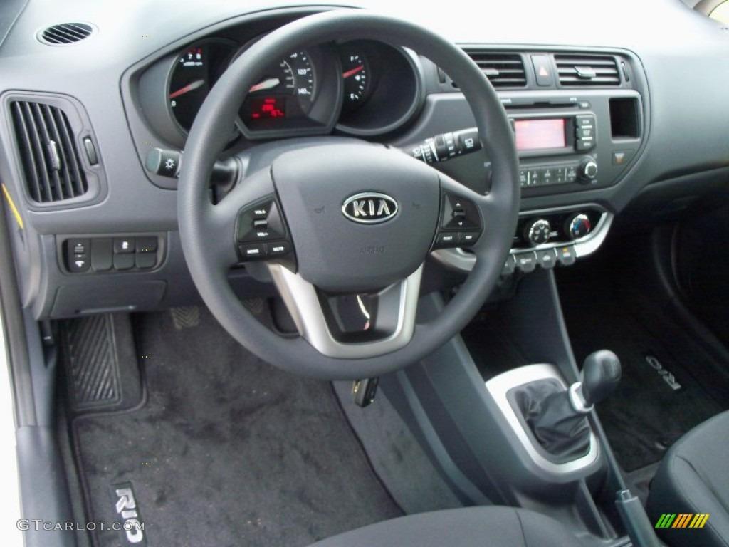 2012 Kia Rio Rio5 LX Hatchback Black Dashboard Photo 56055800