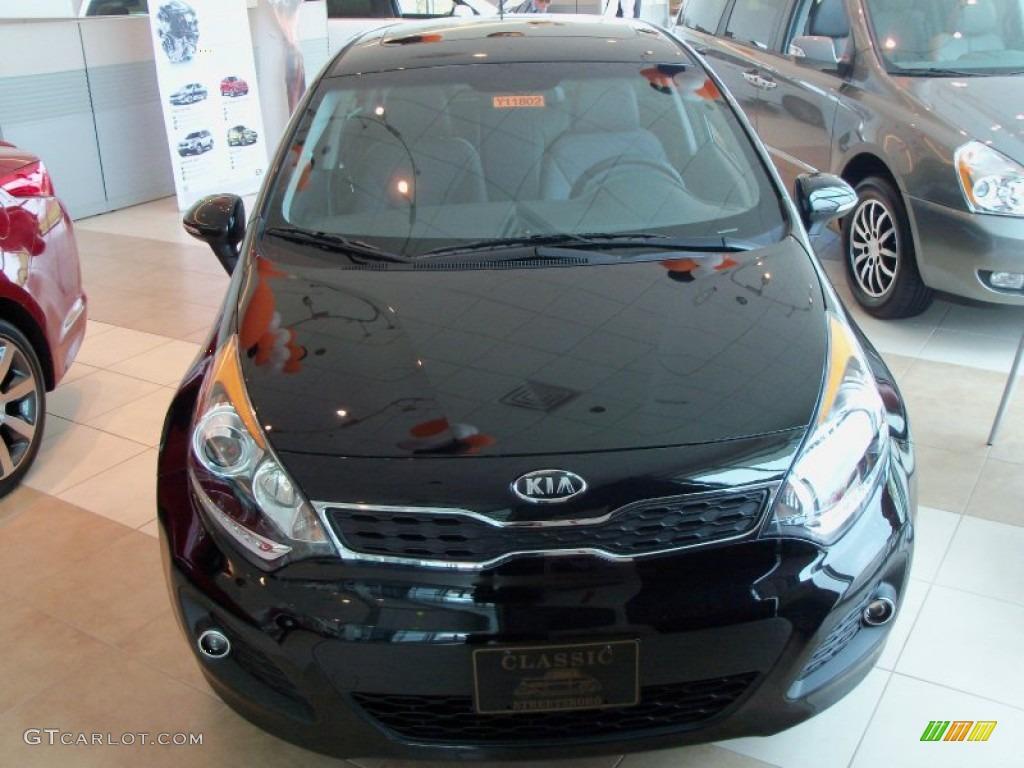 2012 Midnight Black Kia Rio Rio5 SX Hatchback 56014057 Photo 2