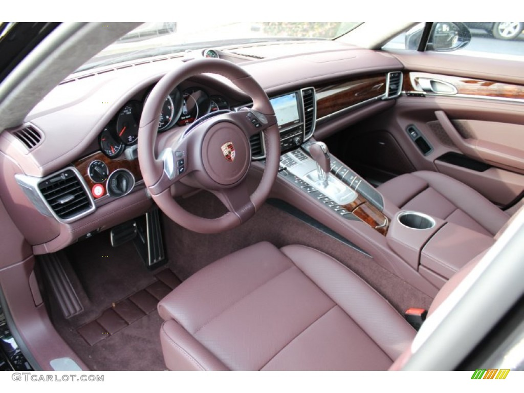 marsala red interior 2012 porsche panamera turbo photo 56061731