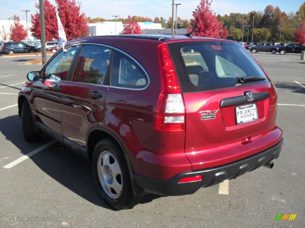 2009 CR-V LX 4WD - Tango Red Pearl / Gray photo #2