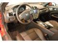 2011 Jaguar XK Warm Charcoal/Warm Charcoal/Cranberry Interior Prime Interior Photo