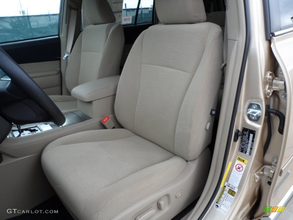 Sand Beige Interior 2012 Toyota Highlander V6 Photo