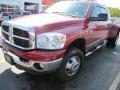2007 Inferno Red Crystal Pearl Dodge Ram 3500 SLT Mega Cab 4x4 Dually  photo #1