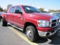 2007 Inferno Red Crystal Pearl Dodge Ram 3500 SLT Mega Cab 4x4 Dually  photo #4