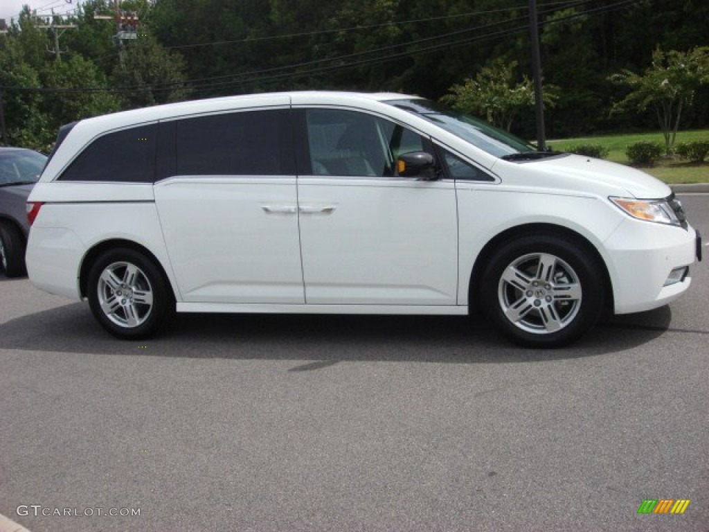 Taffeta White 2011 Honda Odyssey Touring Elite Exterior